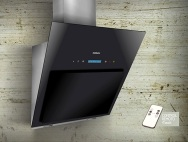 Innixia Touch Contrapared 60 cm → Comando touch 3 velocidades + Control Remoto + Iluminación Spot LED 2x2 w / Motor 200 w / Caudal 800 m3/h / Acero Inoxidable