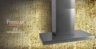 Premium LCD 60 - 75 - 90 - 120 → 3 velocidades + Timer + Reloj / Iluminación Spot LED mod. 60 y 75 → 1x2 w - 90 y 120 → 2x2 w / Motor 200 w / Caudal 800 m3/h / Acero Inoxidable