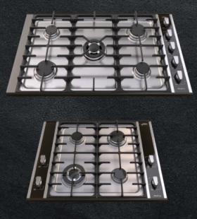 Anafe Cristal → CARACTERÍSTICAS → Encendido eléctrico + Perilla premium + Mechero de aluminio + 1 triple corona / Modelo 400 → 4 hornallas / Modelo 900 → 5 hornallas + Reja de fundición liviana vitrificada + Válvula de seguridad en hornallas / MEDIDAS 4 hornallas → Ancho: 75 cm Alto: 23 cm Prof. : 61 cm / 5 hornallas → Ancho: 95 cm Alto: 23 cm Prof. : 61 cm.