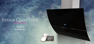 Innixia Touch Contrapared de 90 cm con control remoto → 3 velocidades + Timer + Reloj / Iluminación Spot LED 2x2 w - Motor 195 w - Caudal 550 m3/h